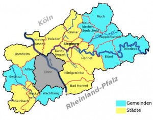 Karte Rhein-Sieg-Kreis